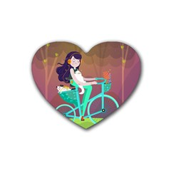 Bikeride Heart Coaster (4 Pack)  by Mjdaluz