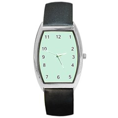 Pastel Color   Light Greenish Gray Barrel Style Metal Watch by tarastyle
