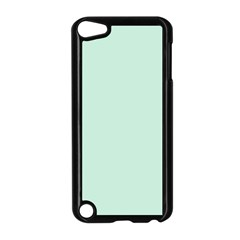 Pastel Color   Light Greenish Gray Apple Ipod Touch 5 Case (black) by tarastyle