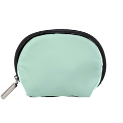 Pastel Color   Light Greenish Gray Accessory Pouches (small)  by tarastyle