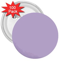 Pastel Color   Light Violetish Gray 3  Buttons (100 Pack)  by tarastyle