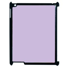 Pastel Color   Light Violetish Gray Apple Ipad 2 Case (black) by tarastyle