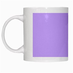 Pastel Color   Pale Blue Violet White Mugs by tarastyle