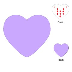 Pastel Color   Pale Blue Violet Playing Cards (heart)  by tarastyle