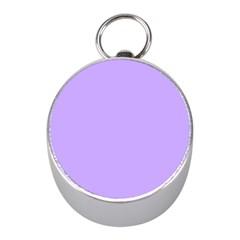 Pastel Color   Pale Blue Violet Mini Silver Compasses by tarastyle
