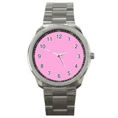 Pastel Color   Pale Cerise Sport Metal Watch by tarastyle