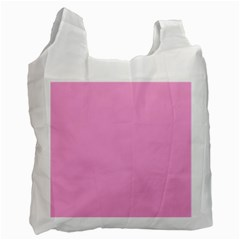 Pastel Color   Pale Cerise Recycle Bag (one Side) by tarastyle