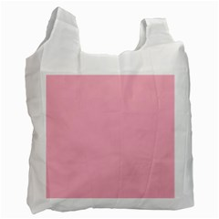Pastel Color   Pale Crimson Recycle Bag (one Side) by tarastyle