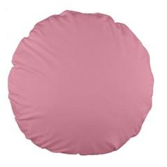 Pastel Color   Pale Crimson Large 18  Premium Flano Round Cushions by tarastyle