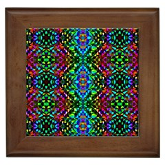 Glittering Kaleidoscope Mosaic Pattern Framed Tiles by Costasonlineshop