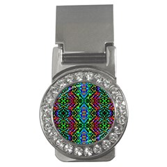 Glittering Kaleidoscope Mosaic Pattern Money Clips (cz)  by Costasonlineshop