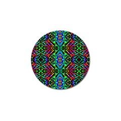 Glittering Kaleidoscope Mosaic Pattern Golf Ball Marker (10 Pack) by Costasonlineshop