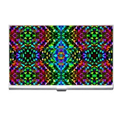 Glittering Kaleidoscope Mosaic Pattern Business Card Holders by Costasonlineshop
