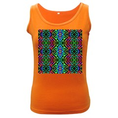 Glittering Kaleidoscope Mosaic Pattern Women s Dark Tank Top by Costasonlineshop