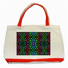 Glittering Kaleidoscope Mosaic Pattern Classic Tote Bag (red) by Costasonlineshop