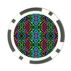 Glittering Kaleidoscope Mosaic Pattern Poker Chip Card Guard (10 Pack) by Costasonlineshop