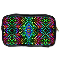 Glittering Kaleidoscope Mosaic Pattern Toiletries Bags by Costasonlineshop