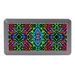 Glittering Kaleidoscope Mosaic Pattern Memory Card Reader (mini) by Costasonlineshop