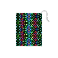 Glittering Kaleidoscope Mosaic Pattern Drawstring Pouches (small)  by Costasonlineshop