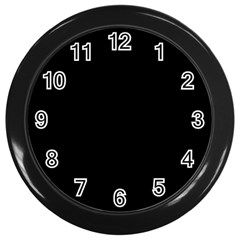 Black Gothic Wall Clocks (black) by Costasonlineshop