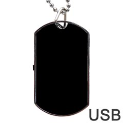 Black Gothic Dog Tag Usb Flash (two Sides) by Costasonlineshop