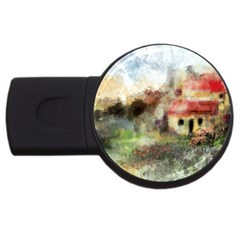 Old Spanish Village Usb Flash Drive Round (4 Gb) by theunrulyartist