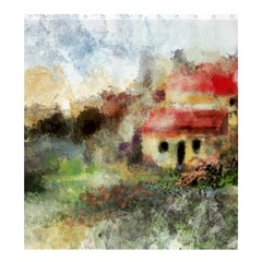 Old Spanish Village Shower Curtain 66  x 72  (Large)  by theunrulyartist