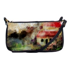 Old Spanish Village Shoulder Clutch Bags by theunrulyartist