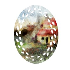Old Spanish Village Oval Filigree Ornament (two Sides) by theunrulyartist