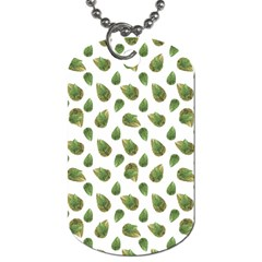 Leaves Motif Nature Pattern Dog Tag (one Side) by dflcprints