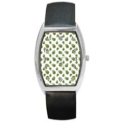 Leaves Motif Nature Pattern Barrel Style Metal Watch by dflcprints
