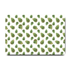 Leaves Motif Nature Pattern Small Doormat  by dflcprints