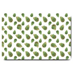 Leaves Motif Nature Pattern Large Doormat  by dflcprints