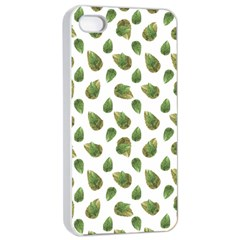 Leaves Motif Nature Pattern Apple Iphone 4/4s Seamless Case (white) by dflcprints