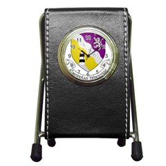 County Wexford Coat Of Arms  Pen Holder Desk Clocks by abbeyz71