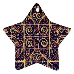 Tribal Ornate Pattern Ornament (star) by dflcprints