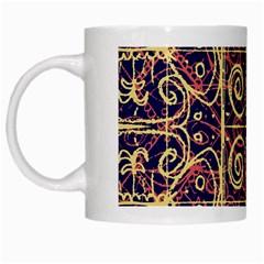 Tribal Ornate Pattern White Mugs by dflcprints