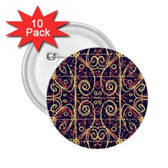Tribal Ornate Pattern 2 25  Buttons (10 Pack)  by dflcprints