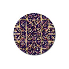 Tribal Ornate Pattern Magnet 3  (round) by dflcprints