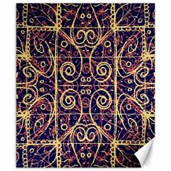 Tribal Ornate Pattern Canvas 8  X 10  by dflcprints