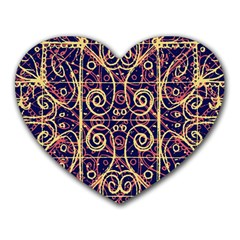 Tribal Ornate Pattern Heart Mousepads by dflcprints