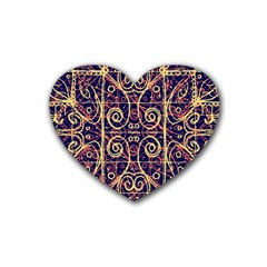 Tribal Ornate Pattern Heart Coaster (4 Pack)  by dflcprints