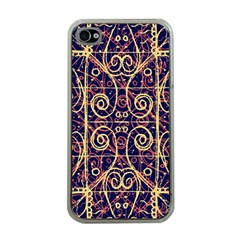Tribal Ornate Pattern Apple Iphone 4 Case (clear) by dflcprints