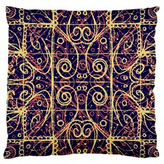 Tribal Ornate Pattern Large Cushion Case (one Side) by dflcprints