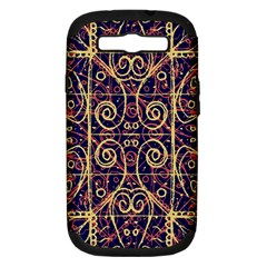 Tribal Ornate Pattern Samsung Galaxy S Iii Hardshell Case (pc+silicone) by dflcprints