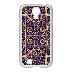 Tribal Ornate Pattern Samsung Galaxy S4 I9500/ I9505 Case (white) by dflcprints