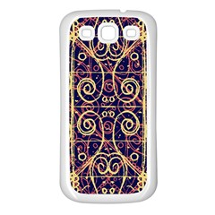 Tribal Ornate Pattern Samsung Galaxy S3 Back Case (white) by dflcprints