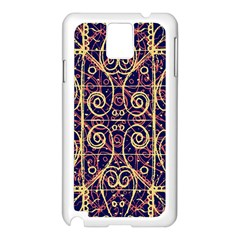Tribal Ornate Pattern Samsung Galaxy Note 3 N9005 Case (white) by dflcprints