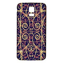 Tribal Ornate Pattern Samsung Galaxy S5 Back Case (white) by dflcprints