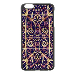 Tribal Ornate Pattern Apple Iphone 6 Plus/6s Plus Black Enamel Case by dflcprints